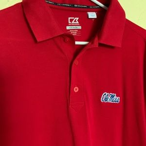 Old Miss Men's Red polo shirt by Cutter and Buck
